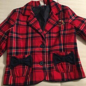 Hartstrings Red Plaid Blazer Sz 6X